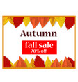 autumn fall sale off concept background realistic vector image vector image