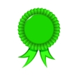Award Green Ribbon vector image