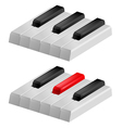 black and white piano keys vector image vector image