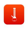 bong for smoking marijuana icon digital red vector image vector image