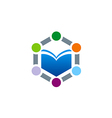 book learning education logo vector image vector image