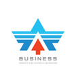 business logo design abstract wing sign letter vector image