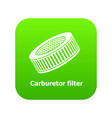 car air filters icon green vector image vector image
