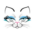 cat cute cartoon vector image vector image