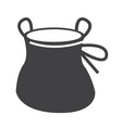 chalk bag climb icon design vector image