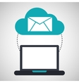 cloud computing email social media virtual icon vector image vector image