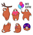 collection of cute cartoon vector image vector image