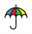 Color Umbrella vector image
