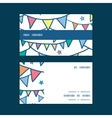 colorful doodle bunting flags horizontal stripe vector image vector image
