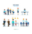 conference of colleagues company communication vector image