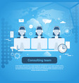 consulting team technical support template web vector image