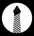 cravat icon monochrome vector image vector image
