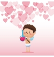 cupid valentine day elixir love hearts background vector image