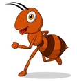 Cute ant cartoon running vector image vector image