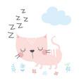cute cartoon cat in scandinavian style vector image vector image