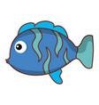 cute ornamental fish icon vector image vector image