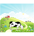 Dairy farm in the summer landscape vector image vector image