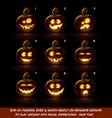 Dark Jack O Lantern Cartoon 9 Fanny n Goof vector image vector image