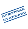 European Standard Watermark Stamp vector image vector image