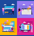 flat interface design concept vector image