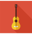 Flat Music String Guitar with long Shadow vector image vector image