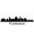florence italy city skyline silhouette with black vector image