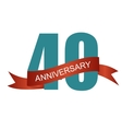 Forty 40 Years Anniversary Label Sign for your vector image vector image
