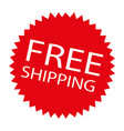 free shipping label vector image vector image