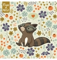 Funny little raccoon vector image vector image