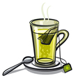 glass of green tea vector image