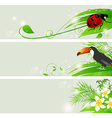 green nature banners vector image vector image