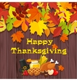 happy thanksgiving day banner vector image vector image