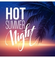 hot summer night party poster design vector image vector image