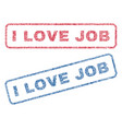 i love job textile stamps vector image vector image