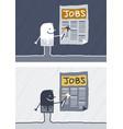 jobs colored cartoon vector image