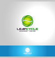 leaf cycle - nature logo template vector image vector image