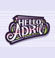 lettering hello april