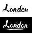 London calligraphy hand-drawn signs vector image vector image