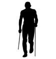 male runner skyrunner vector image vector image