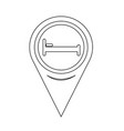 map pin pointer bed icon vector image vector image