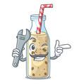 mechanic sweet banana smoothie isolated on mascot vector image vector image