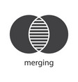 merging glyph icon vector image vector image