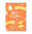 merry christmas winter postcard with warm cloth vector image