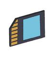 micro sd storage vector image vector image