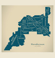 modern city map - henderson nevada city of the vector image vector image
