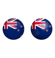 new zealand flag under 3d dome button and on vector image vector image