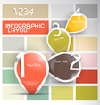One two three four - retro paper progress steps vector image vector image