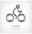 people sports cycling vector image vector image