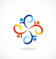 people swirl circle diversity logo vector image vector image