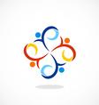 people swirl circle diversity logo vector image vector image